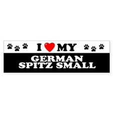 GERMAN SPITZ SMALL Bumper Bumper Sticker