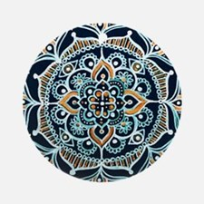Cute Buddhist mandala Round Ornament