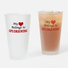 My heart belongs to Gps Drawing Drinking Glass