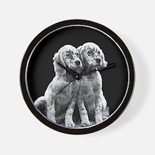 English Setter Pups-2 Wall Clock
