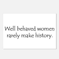 Well behaved women... Postcards (Package of 8)