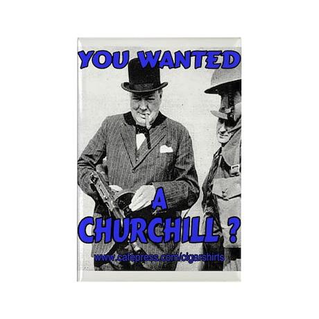 Winston Churchill Cigar Rectangle Magnet