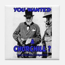 Winston Churchill Cigar Tile Coaster