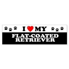 FLAT-COATED RETRIEVER Bumper Bumper Sticker