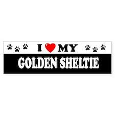 GOLDEN SHELTIE Bumper Bumper Sticker