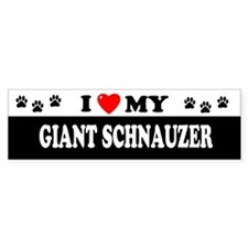GIANT SCHNAUZER Bumper Bumper Sticker