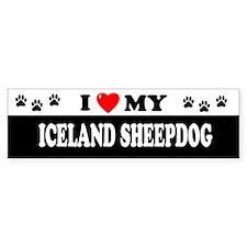 ICELAND SHEEPDOG Bumper Bumper Sticker