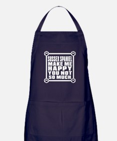 Sussex Spaniel Dog Make Me Happy Apron (dark)