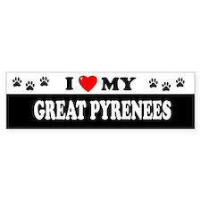 GREAT PYRENEES Bumper Car Sticker