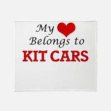 My heart belongs to Kit Cars Throw Blanket