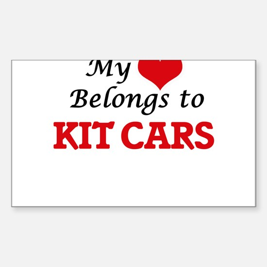 My heart belongs to Kit Cars Decal