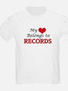 My heart belongs to Records T-Shirt