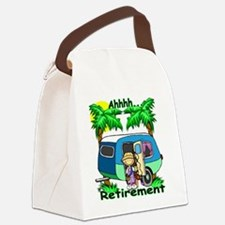 Cool Happy retirement Canvas Lunch Bag