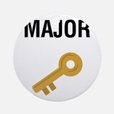 Major Key Round Ornament