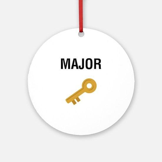 Major Key Round Ornament