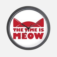 Time Is Meow Wall Clock