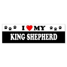 KING SHEPHERD Bumper Bumper Sticker