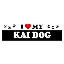 KAI DOG Bumper Car Sticker