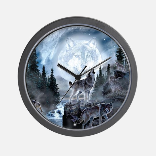 spirt of the wolf Wall Clock