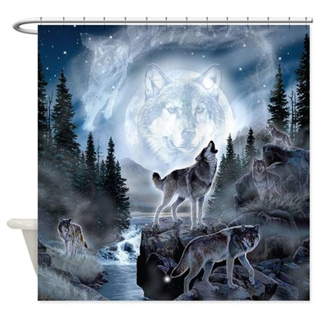 Spirt Of The Wolf Shower Curtain