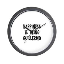 Happiness is being Guillermo Wall Clock