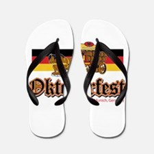 Oktoberfest Beer Wagon Flip Flops