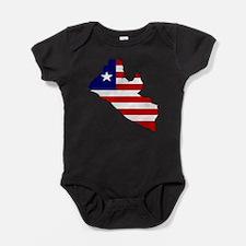 Cute Liberia flag Baby Bodysuit