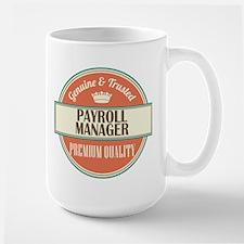 payroll manager vintage logo Mugs
