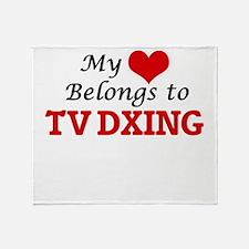 My heart belongs to Tv Dxing Throw Blanket