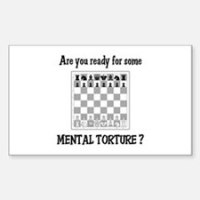 Chess - Mental Torture Rectangle Decal