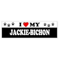 JACKIE-BICHON Bumper Bumper Sticker