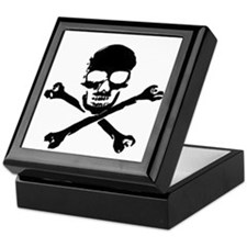 Skull and Cross Bones Pirate Keepsake Box
