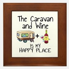 Caravan and Wine is My Happy Place Framed Tile