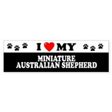 MINIATURE AUSTRALIAN SHEPHERD Bumper Bumper Sticker