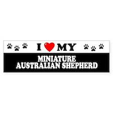 MINIATURE AUSTRALIAN SHEPHERD Bumper Car Sticker