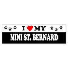 MINI ST. BERNARD Bumper Bumper Sticker