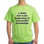 Beautiful Friendship Green T-Shirt
