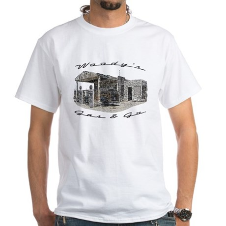 Woody's Gas & Go White T-Shirt