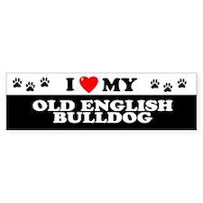 OLD ENGLISH BULLDOG Bumper Bumper Sticker
