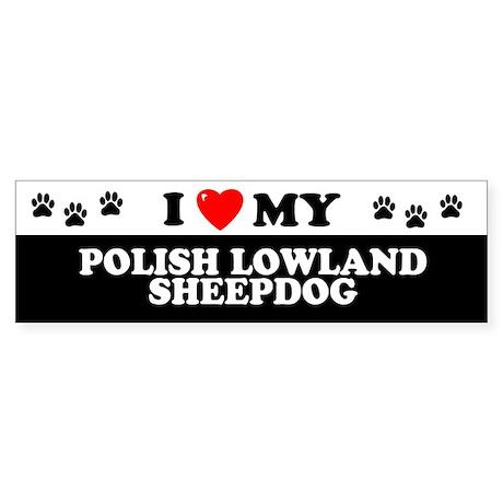 POLISH LOWLAND SHEEPDOG Bumper Sticker