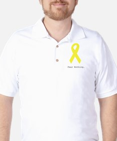 Yellow. Fear Nothing Golf Shirt