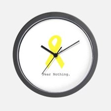 Yellow. Fear Nothing Wall Clock