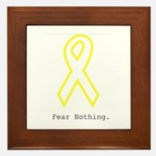 Yellow Out. FearNothing Framed Tile