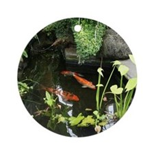 Serene Koi Pond Ornament (Round)