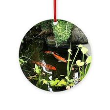 Serene Koi Pond Ornament (Round)