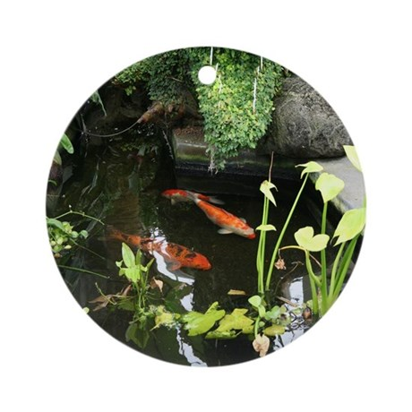 Serene koi pond ornament round by photographz for Round koi pond