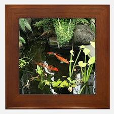 Serene Koi Pond Framed Tile