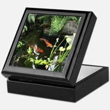 Serene Koi Pond Keepsake Box