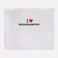 I Love BRIDGEHAMPTON Throw Blanket