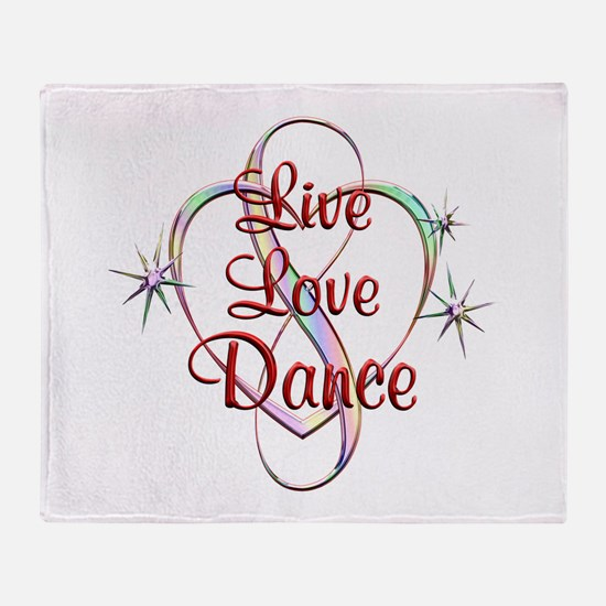 Live Love Dance Throw Blanket